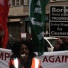 Tower Hamlets tube cleaners protest for living wage