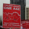 Huge protest against planned Lewisham A&E closure