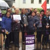NHS workers strike for a one per cent pay rise for all staff