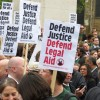 """Cuts to free legal aid have hit """"squeezed middle"""" hardest"""