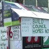 Affordable home campaigners build protest 'house'