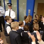 The long arm comes to local schools Photo: Metropolitan Police Press Office
