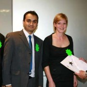 Tower Hamlets representatives accepting the prize. Photo: Tower Hamlets council