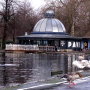 Soon to be a beach? The pond at Victoria Park. Photo. Laurie Whitwell