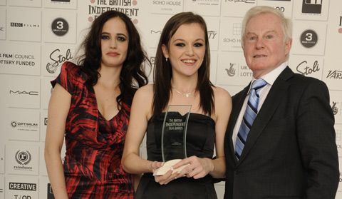 Eva Green, Katie Jarvis, and Derek Jacobi at the awards. Photo- BIFA