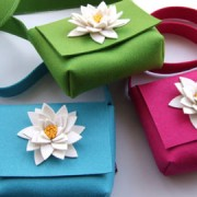 Isolyn wool felt flower bag Photo: Isolyn/East London Design Show