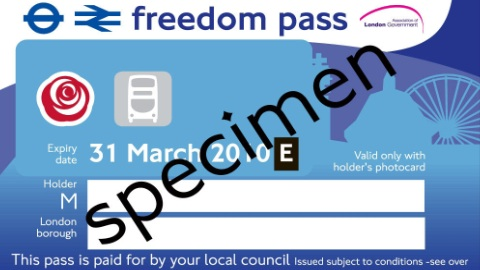 New freedom pass for 2010