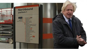 A windswept Mayor and the sparkling new East London Line sign. Photo: Emily Jupp