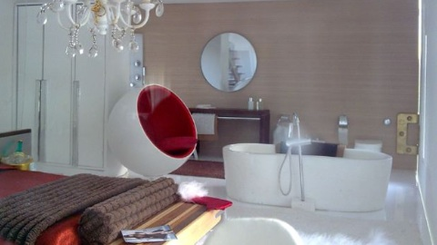 Bedroom and en-suite in The Clearview mini-mansion.   Photo: MIAIM