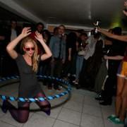 Charlene demonstrates her Hula moves Photo: highoops