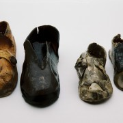 Ceramic Shoes by Jenny Stolzenberg Photo: Marion Davies