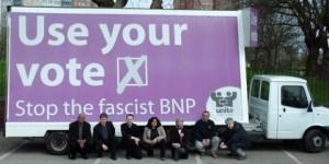 Unite Against Fascism protest against the BNP. Photo: UAF