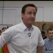 David Cameron at Lewisham college. Photo: screen capture from the video below