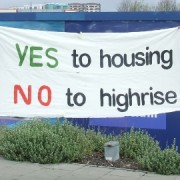Campaigners oppose the new high-rise development in Lewisham Photo by Cat Wiener