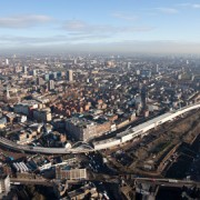 Aerial view of East London Line in Shoreditch. Photo: John Sturrock