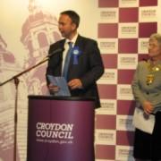 Gavin Barwell new Tory MP for Croydon Central giving acceptance speech. Photo: Rebella Lindsay