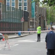 Police cordon after murder on Tuesday: Image: Talia Lapidus