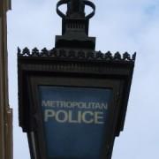 Metropolitan Police lamp. Photo: Tim Crook
