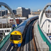 Train over bridge. Dalston to West Croydon. Photo: Transport for London