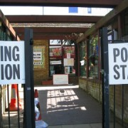 Polling station in Lewisham. Photo: Cat Wiener