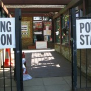 Polling station at New Cross Photo: Cat Wiener