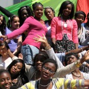Members of Hackney Young Women's Group extend a welcome