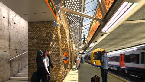 CGI impression of the new station at Whitechapel Pic: Crossrail