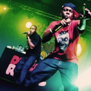 Dizzee gesticulates photo: live for the funk