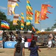 Flags at Lewisham People's Day. Photo by Olivia