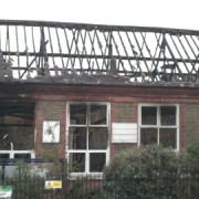 The annexe of Stillness Primary School was destroyed by fire Photograph by Cat Wiener