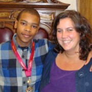 New Young Mayor Kieza De Sousa and Lewisham East MP Heidi Alexander