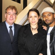 Stewart Till on left, Anna Hamzah and Noel Clarke