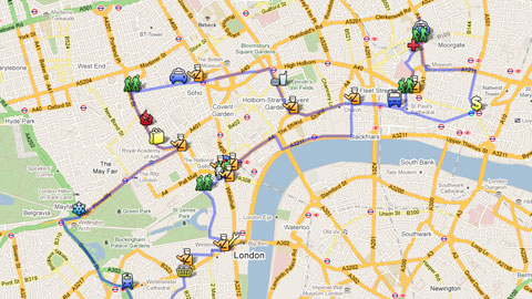Full Map Of London.How The Demonstrators Led Police On A Merry Dance Through London
