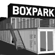 Artist's impression of pop-mall to open in Shoreditch