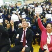 Trade Union meeting. Photo: Liliana Ciobanu