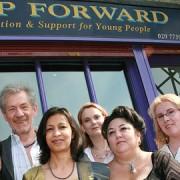 Step Forward team with patron Sir Ian McKellen