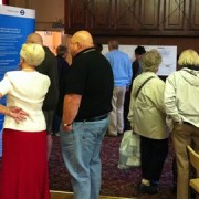 Residents study the proposals. Image: Phillip Brown