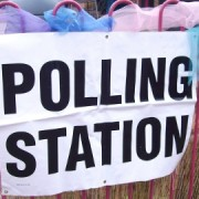 A polling station in Croydon
