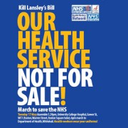 Campaign poster for March to save NHS
