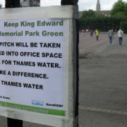 A football pitch that would be lost under Thames Water's proposals. Image: Steve Howe