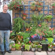 Tony Board won the front garden prize 2010
