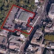 Proposed site of supermarket