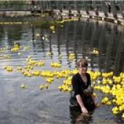 Pic: Ollie Harrop. Corinne Felgate installing rubber ducks