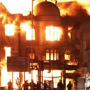 Reeves corner on fire