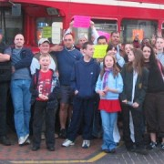 Richard Hough and supporters