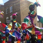 Colourful costumes at the Hackney One Carnival pic: Gemma O'Brien