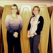 Carol Overington and Angelia Jordan. Pic: Sophia Ignatidou