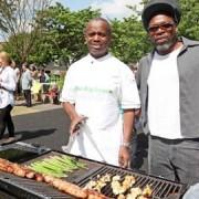 Malcolm John with Levi Roots. pic: chefmalcolmjohn.co.uk