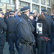 Large police presence at Dalston this morning pic: Will Coldwell