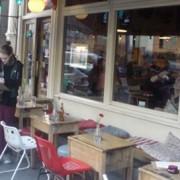 A Hackney cafe pic: Sophie Zeldin O'Neil